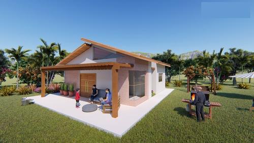 Imagem 1 de 8 de Planta De Casa 2 Quartos - Projeto Completo+aprovação Ea-146