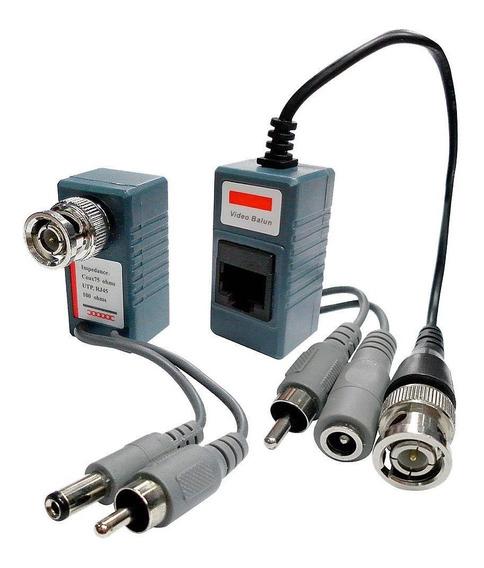 Kit 15 Pares Balun Audio Video Com Conexão Rj45 100m Color