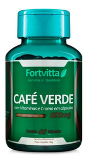 Café Verde 600mg 60 Cápsulas - Fortvitta