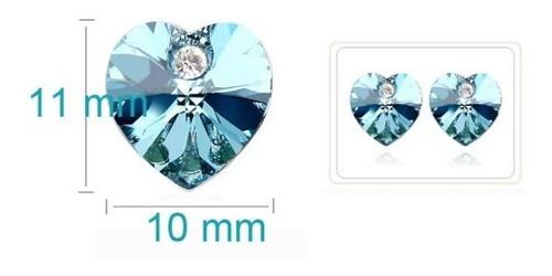 Pendientes Mujer Corazón Cristal Tipo Swaroski Ideal Regalos