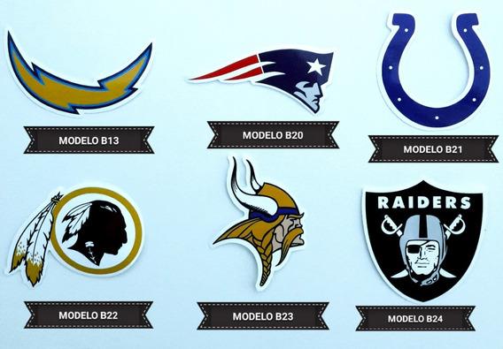 Figurinhas Adesivas Futebol Americano Emblemas Dos Times 32p