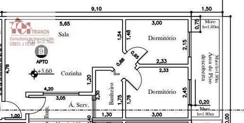 Apartamento Com 2 Dormitórios À Venda, 42 M² Por R$ 255.000,00 - Vila Humaitá - Santo André/sp - Ap2608
