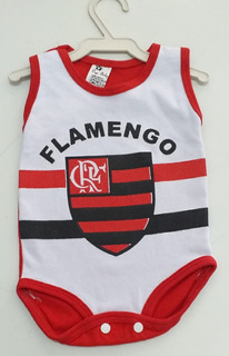 Body Regata Bebe 2 A 4 Meses Time Flamengo Bebe Nene