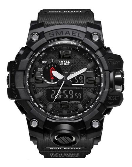 Reloj De Cuarzo Deportivo Casual Para Hombres Smael1545-negr