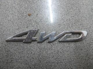 Insignia Emblema 4wd Cromado Metálico Toyota Auto