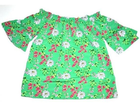Blusa De Mujer Talles Especiales Con Flores