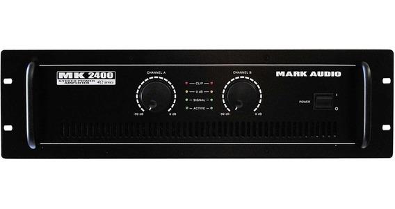 Amplificador De Potência Mark Audio Mk2400 400w - Mk 2400