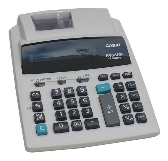 Calculadora Casio Fr-2650t Impresor 2 Colores Distr Oficial