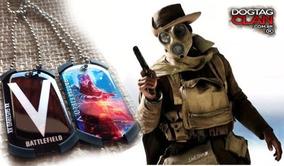 Colar Dog Tag Battlefield 1 Placas Identificação