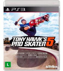 Tony Hawk Pro Skater 5 Ps3 - Jogo Novo Lacrado Mídia Física