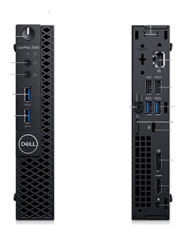 Dell Optiplex 3060 Micro Intel Core I3 8ªg, 4gb, Ssd120gb
