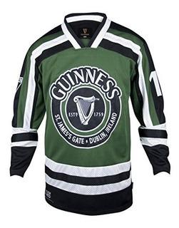 Guinness Green Y White Harp Hockey Jersey Camiseta De Poliés