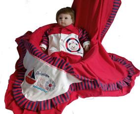 Kit Saída Maternidade Bebe Menino Inverno Enxoval Marinheiro