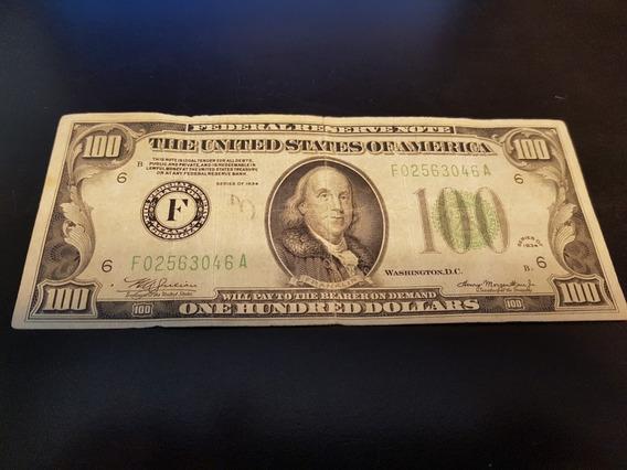 Nota De 100 Dólares Antigos Ano 1934 Colecionador