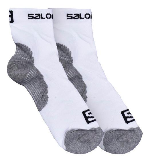 Soquetes Salomon Mission Running Hombre Blanco
