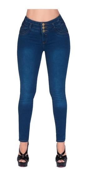 Jeans Levanta Pompas Con Botones Al Frente