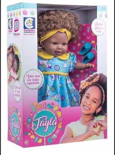 Boneca Tayla Cabelo Castanho Cotiplas