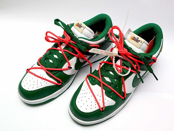 Nike Dunk Low X Off White - Pine Green
