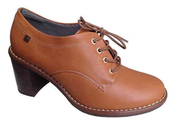 Sapato Oxford Piccadilly 342007 Salto Grosso 7cm