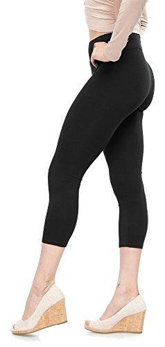 Malvina Lush Moda Leggings De Algodon Suave Capri - Los Colo