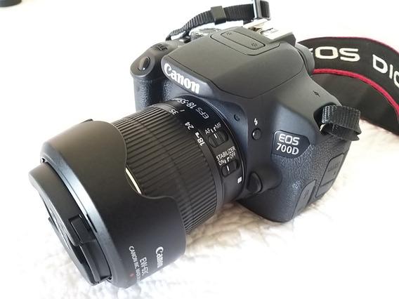 Câmera Canon T5i/700d + Lentes + Para-sóis