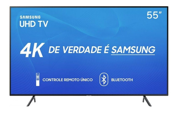 Smart Tv Led 55 Samsung Ru7100 Un55ru7100gxzd Ultra Hd 4k Hd