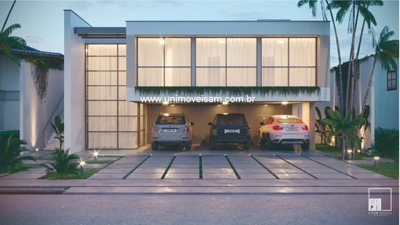 Alphaville Manaus 3, Bairro Ponta Negra, Casa 3 Suítes Com Closet, Área 283 M² - Ca00075 - 32556395