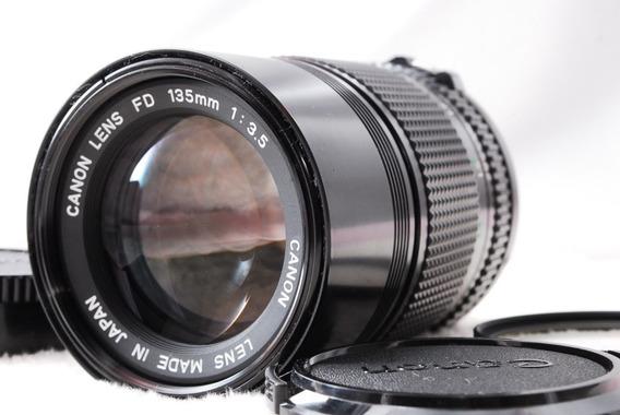 Lente Canon Fd 135mm 3.5 Fd Mount Excelente Estado