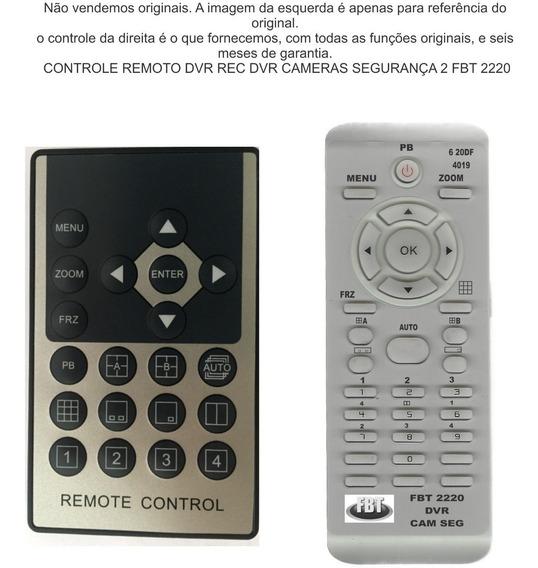 Controle Remoto Dvr Rec Dvr Cameras Segurança 2 Fbt 2220