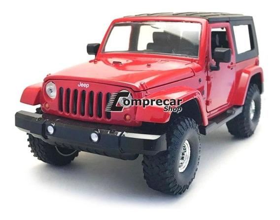 Miniatura Jeep Wrangler 2007 Vermelho Jada Toys 1/24