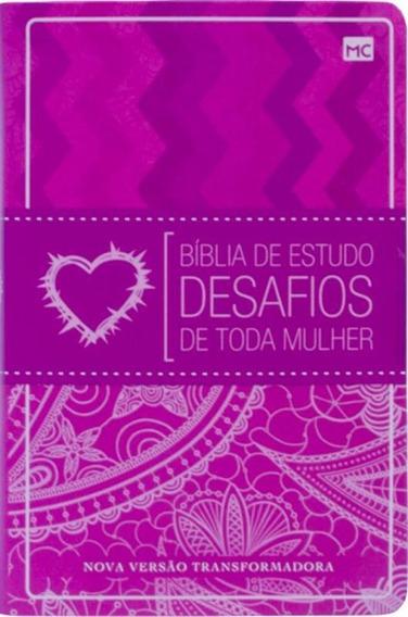 Biblia De Estudos - Desafios De Toda Mulher - Mundo Cristao