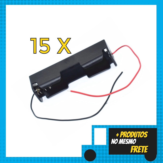 15x Suporte De Bateria 18650 Caixa Plastica Case Box Arduino