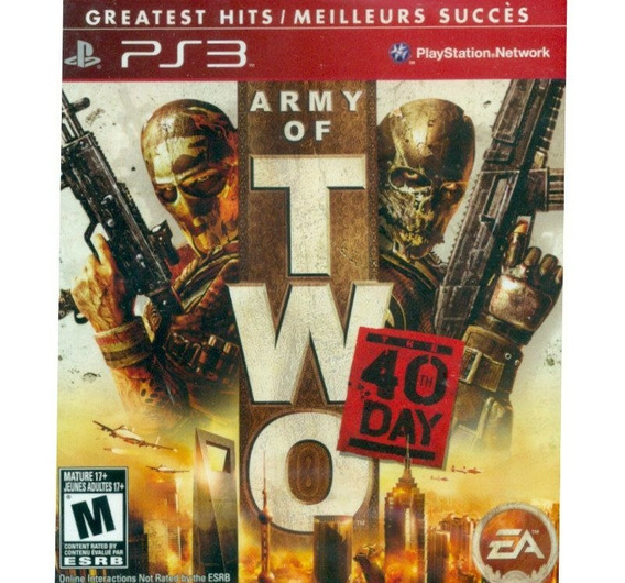 Army Of Two 40 Day Seminovo Ps3 Oferta! Loja Física!
