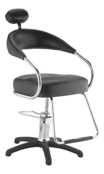 Cadeira Hidráulica Futura Cabeleireiro Dompel Preto Garantia