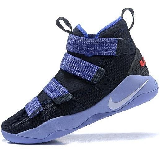 Zapatillas Nike James Soldier 11 Negro , Índigo 40-46