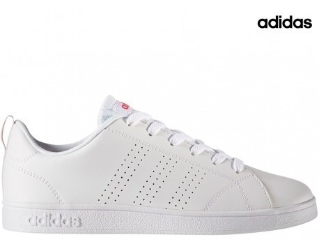 Tenis adidas Advantage Clean Blanco/rosa Bb9976