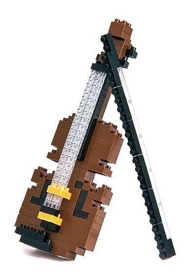 Nanoblock Violin Juguete Rompecabezas Juego Didactico Regalo