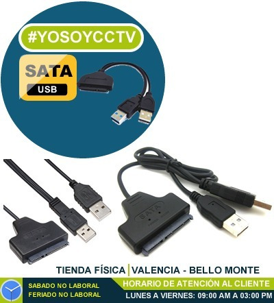 Cable Adaptador Usb A Sata Disco Duro 2.5 Laptop Usb 2.0