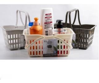 Canasta Organizador Baño Plastico 24 Cm Colores Surt. Cocin