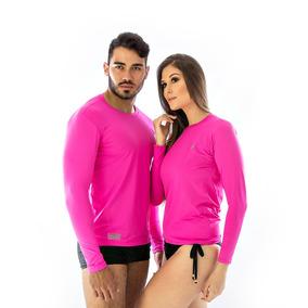 Camiseta Fúcsia Rosa Pink Camisa Rosa Escuro Proteção Uv