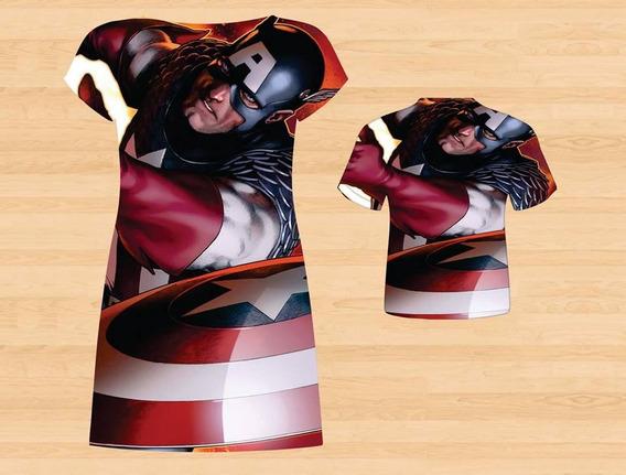 Vestido + Blusa Mãe E Filho - America Cap. Tema 3