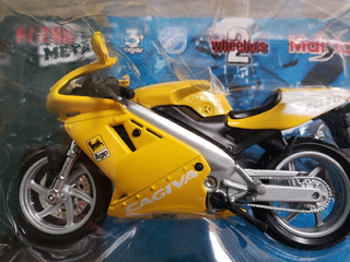 Miniatura Maisto- Moto Cagiva Mito 125 -amarela