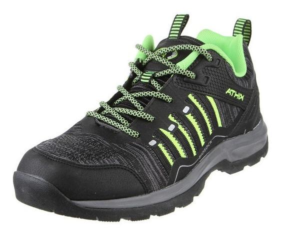 Zapatilla Athix Electric Negro Verde Talle 40 41 42 43 44 45