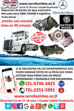 Reparación De Bomba De Agua Automotriz Mercedes 460 Guatema