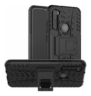 Capa Proteção Anti Queda Redmi Note 8+pelicula Vidro 3d