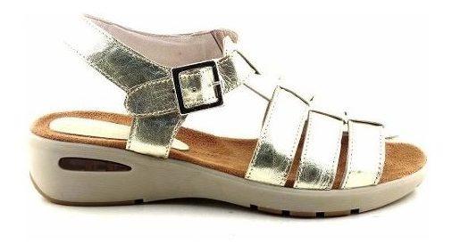 Sandalia Cuero Mujer Briganti Zapato Taco Goma - Mcsd04562