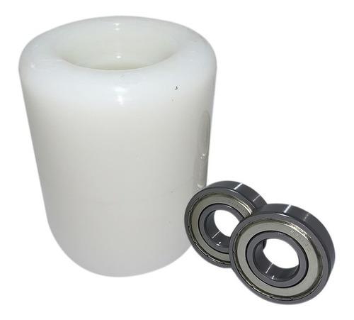 Imagem 1 de 3 de Rodas De Carga De Nylon 80 X 95 C/rolamento