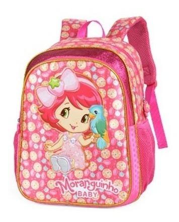 Mochila Infantil Menina Glitter Moranguinho Rosa - Is32021mg