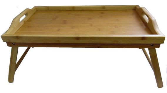 Bandeja Cama Bamboo Plegable