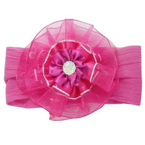 Faixa De Bebê Meia De Seda Pink Luxo